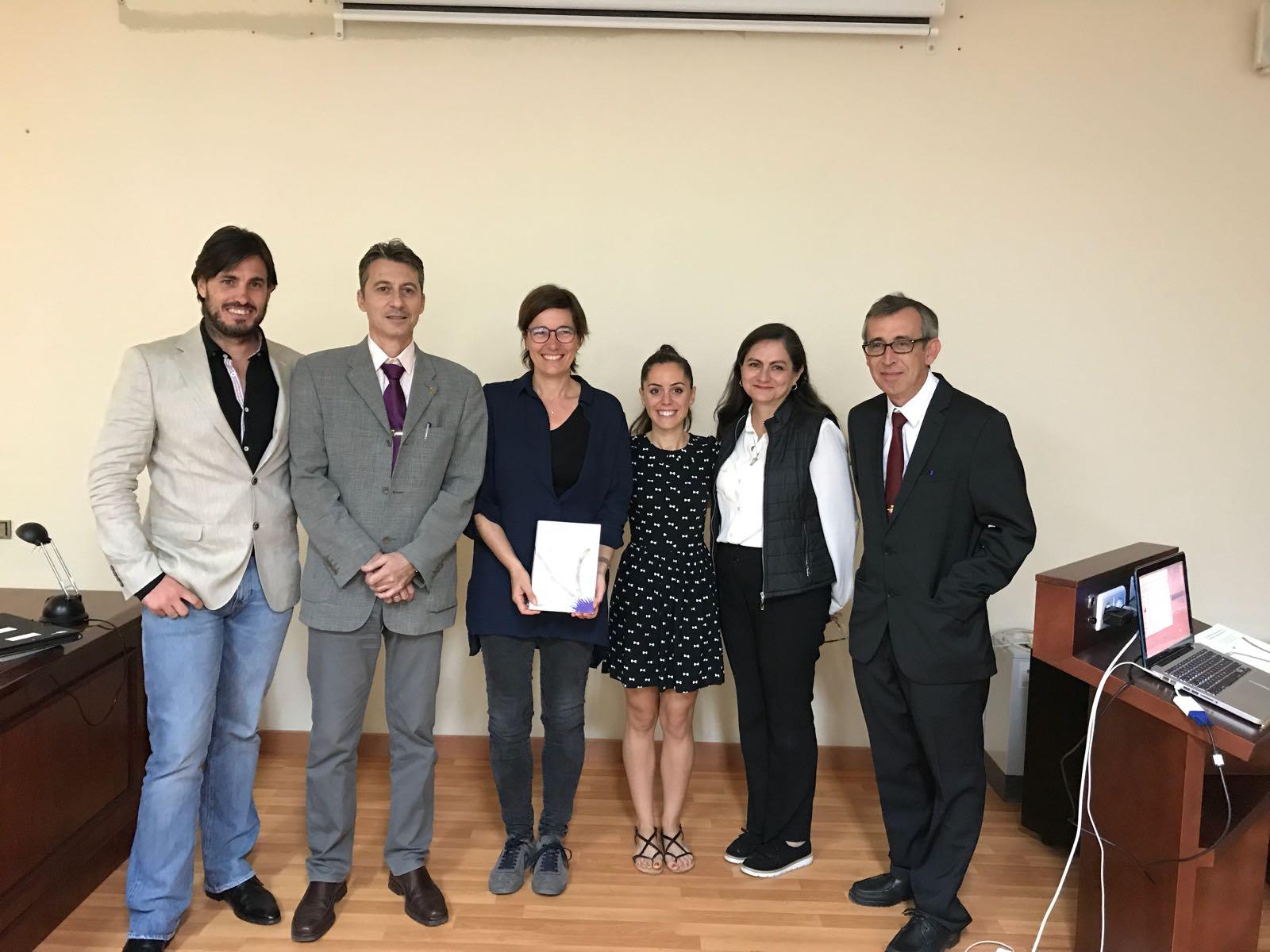 Dr. Brun, Dr. Pérez-Lloréns, Dra. Alcoverro, Dra. Jiménez-Ramos, Dra. Serviere-Zaragoza, Dr. Vergara